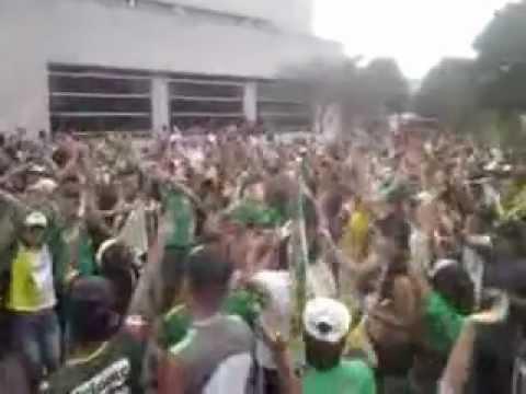 """""""Artilleria Verde Sur ((La Hinchada Milagrosa)) 05-02-2013"""" Barra: Artillería Verde Sur • Club: Deportes Quindío"""