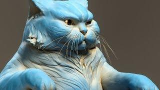 Gambar cover Sculpting a cat in Zbrush. Timelapse