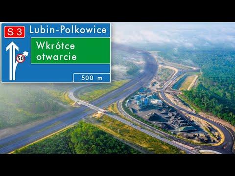 Wideo: Przelot nad drogą S3 Lubin - Polkowice