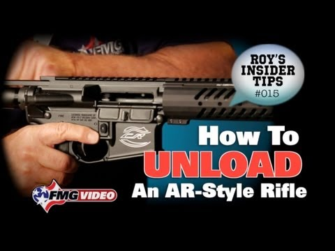 How To Unload An AR-Style Rifle