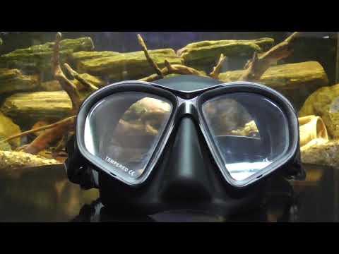 Маска для подводного плавания BS Diver Covert, зеленый камуфляж Video #2