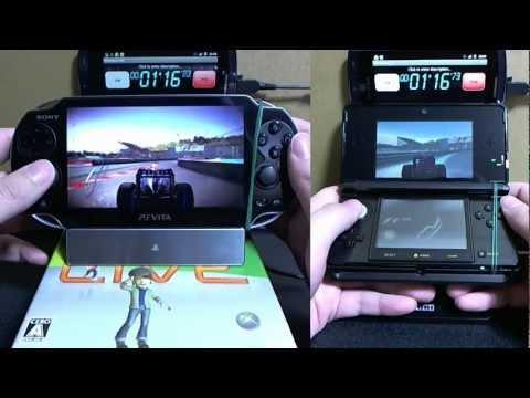 Srovnání výdrže baterie u 3DS a Vity – F1 2011