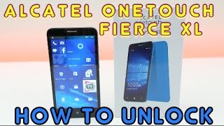How to Unlock Alcatel OneTouch Fierce XL on ANY Carrier (Cricket, AT&T, T-Mobile, MetroPCS, ETC)
