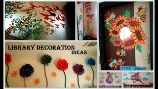 Library Wall Art Ideas, Painting On Wall Ideas, Library Wall Art, Library Art Program Ideas