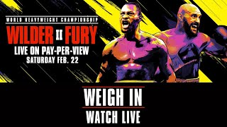 Wilder vs Fury 2 Official Weigh-ins | Watch Live
