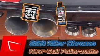 Nevr Dull Original und Surf City Garage Killer Chrome Test - Auspuffblende reinigen und polieren