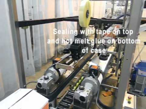 Selladora de caja: Selladora TBS100FC Con cinta y Pegante Caliente