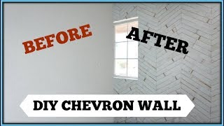 DIY CHEVRON WALL | Easy Room Makeover Idea | Momma From Scratch