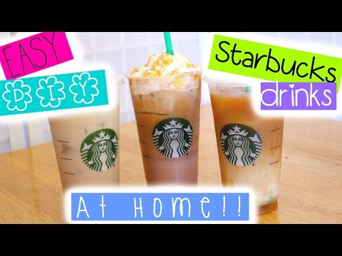 Video EASY DIY Starbucks drinks at HOME!