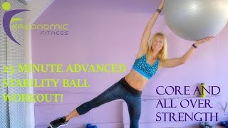 Stability Ball Workout! - 25 Minutes - Advanced by Eye See Digital