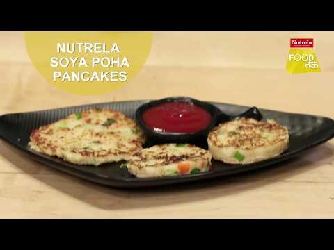 Nutrela Soya Poha Pancakes