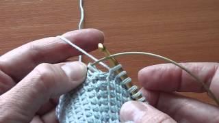 Крючок для тунисского вязания с леской