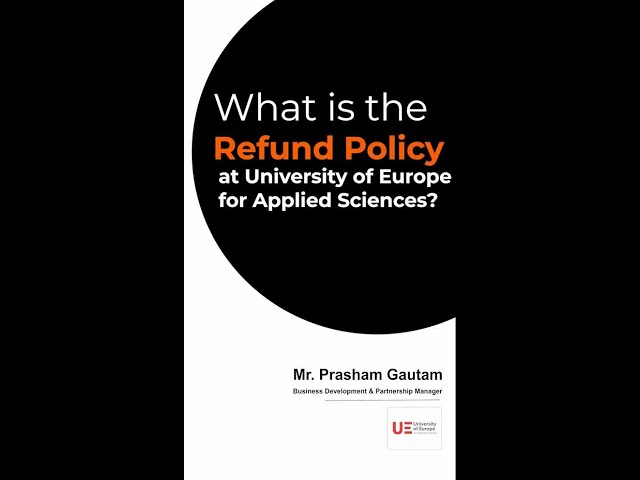 What is the Refund Policy at the University of Europe for Applied Sciences?