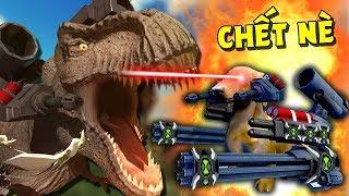 SIÊU NHÂN CỜ HÓ THÔNG CẢ ĐÀN T-REX - ĐẤU TRƯỜNG KHỦNG LONG | Beast Battle Simulator #3 | POBBrose ✔