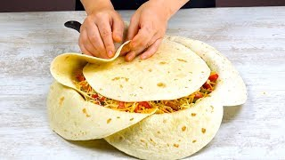 Arrange 7 Tortillas In The Pan Like THIS & Wait 40 Minutes – WOW!