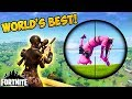 WORLDS GREATEST SNIPER SHOT! - Fortnite Funny Fails and WTF Moments! #128 (Daily Moments)