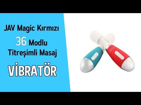 AV Magic Kırmızı 36 Modlu Titreşimli Masaj Vibratörü