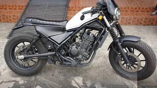 Install Honda Rebel CMX 300 - 500 MotoZaaa Custom Scrambler Seat Kit Motorcycle