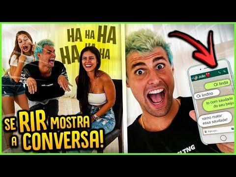 QUEM DER RISADA NO VÍDEO = MOSTRAR UMA CONVERSA!! ( PEGUEI COM EX ) [ REZENDE EVIL ]