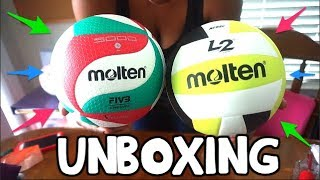 UNBOXING the VOLLEYBALL OF MY DREAMS! ⎮Molten Flistatec