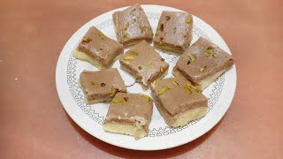 Instant chocolate burfi with khana khazana