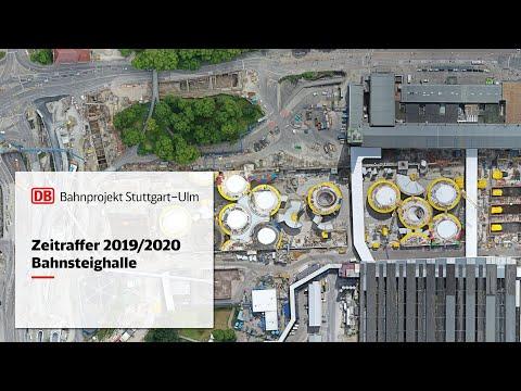 Neue Bahnsteighalle – Zeitrafferfilm...