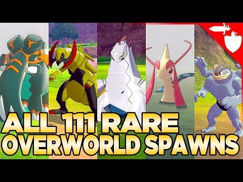All 111 Rare Overworld Spawns in Pokemon Sword and Shield