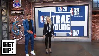 Trae Young, Nick Foles and Alex Rodriguez play cornhole with Michelle Beadle | Get Up! | ESPN - dooclip.me