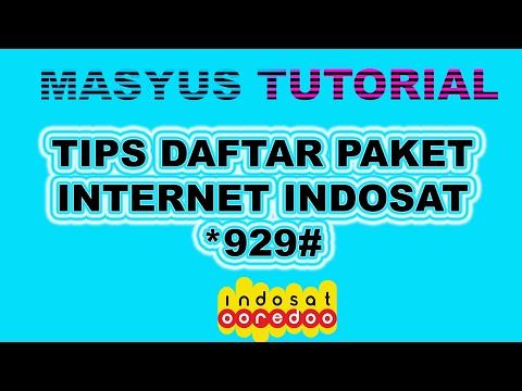 Video Tips Daftar Paket Internet Indosat 929