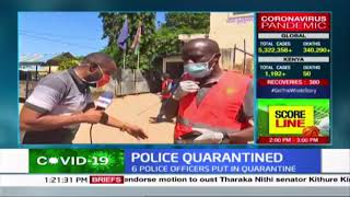 COVID-19 fumigation exercise continues at Mtwapa police station