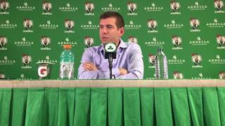 Brad Stevens reacts to post-game Jae Crowder-John Wall altercation