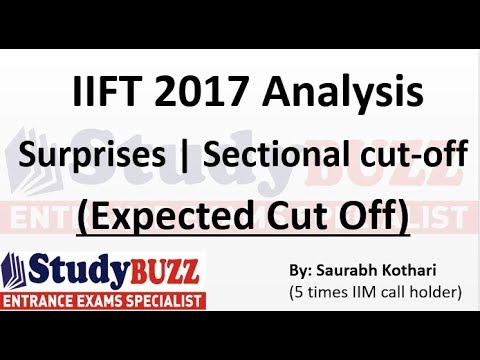 IIFT 2017 Analysis | Expected cut off