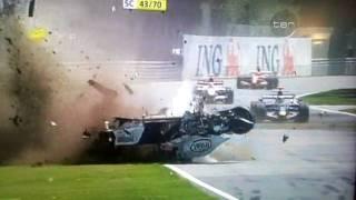 Смотреть онлайн Авария Роберта Кубицы на Формула 1