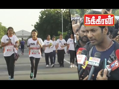 Actor-Vishal-flag-off--Marathon-race-for-Girls-education
