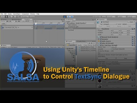Using Unity's Timeline to Control SALSA TextSync Dialogue (pt 1)