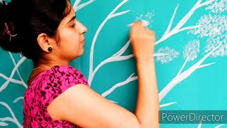Easy & DIY Homemade Wall Art Painting Design Ideas| Wall Painting DIY| Balcony Wall Make-over In 150