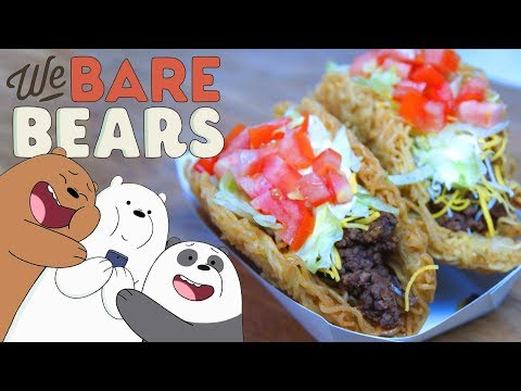 How to Make RAMEN TACOS from We Bare Bears!