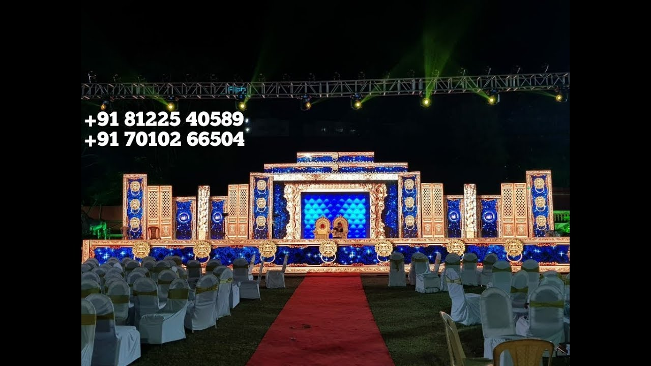 3D LED Video Wall Wedding Marriage Reception Event Stage Backdrop Decoration India +91 8122540589
