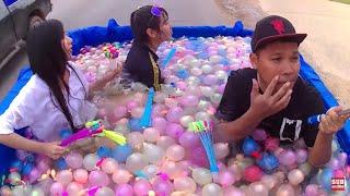 ลูกโป่งน้ำ 1000 ลูก VS สระน้ำท้ายรถกระบะ  | CLASSIC NU - dooclip.me