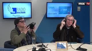"Историк Артур Жвинклис и профессор ЛУ Айя Зобена в программе ""Разворот"" #MIXTV"