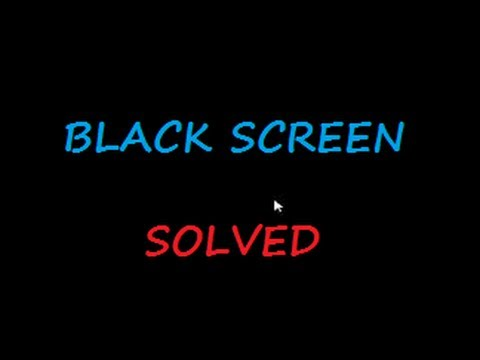 Video Black screen of ☠ DEATH ☠ Windows 7 & 8 - with cursor at start-up SOLVED