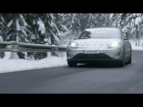 Firma Sony už testuje na silnicích prototyp svého prvního elektromobilu Vison-S