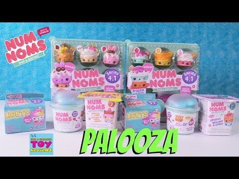 Num Noms Series 4.1 Lights 2.1 4 Pack Nail Polish Toy Review Opening | PSToyReviews