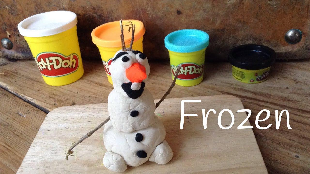 Plastilina Play Doh Frozen: Olaf de plastilina Play Doh - Manualidades con plastilina