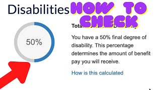 How to Check on Ebenefits VA Disability ratings (Vets)....