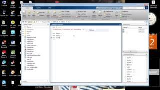 Declaration of Variables in Matlab