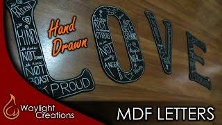 Make Hand Drawn MDF Letters - Wall Art