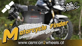 "➤ PAJ MOTORCYCLE FINDER ""VERSION SMS"" Unboxing & Konfiguration"