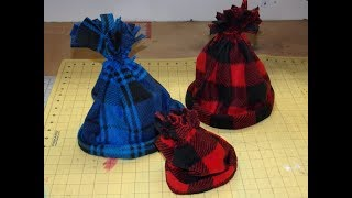 How To Sew The Easiest Fleece Hats EVER!!