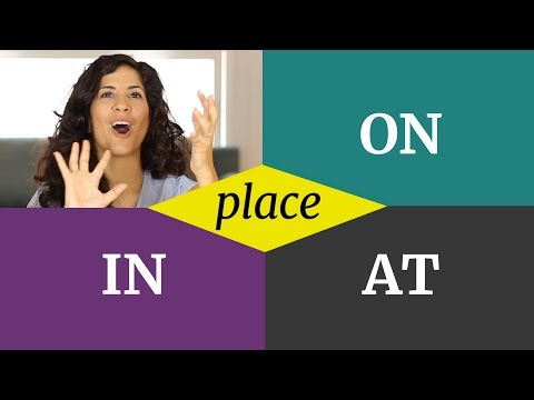 When to Use ON, in and at Correctly in English | Prepositions of Place | Part 2